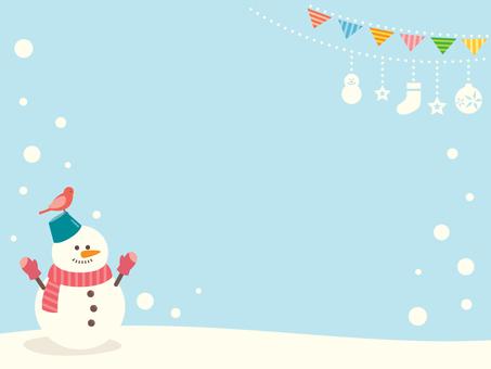 Ilustración de muñeco de nieve