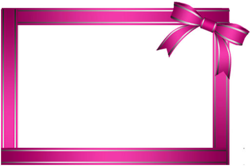 Pink ribbon frame