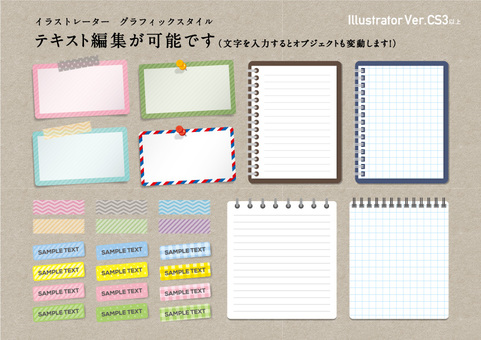 Editable notes and tag material