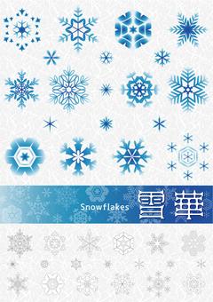 Snow crystal snowflakes
