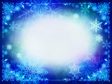 Crystal frame for snow for Christmas · snow in the night