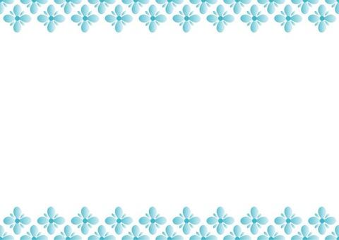 Blue Frame · Flower 3