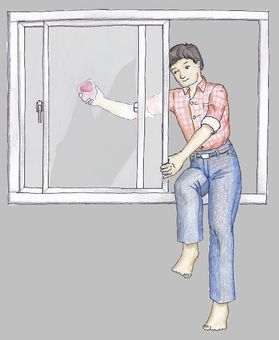 Cleaning · Window wiping