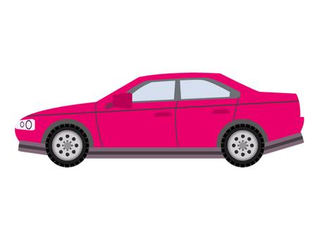 Car sideways red