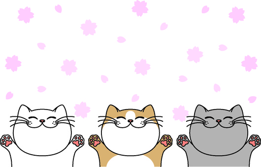 Spring card of smilingly cat 2
