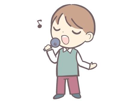 Singing person