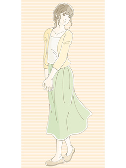 Long skirt women 03