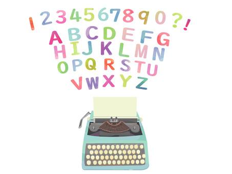 タイプライター アルファベット