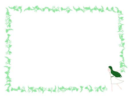 Green fairy frame