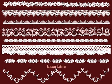 White lace line