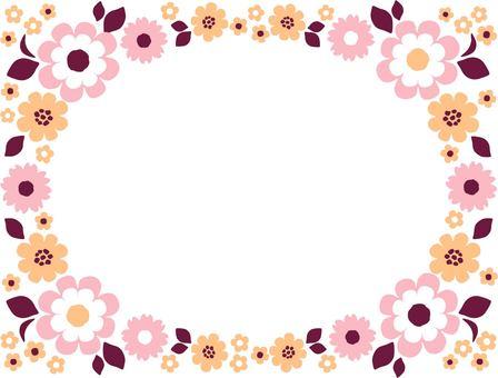 花框粉紅色