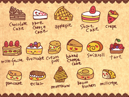 【Sweets】 Pastry · Cake 【Handwritten】