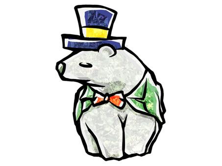 Gentleman white bear