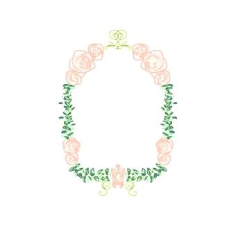 Rose frame (Orange)