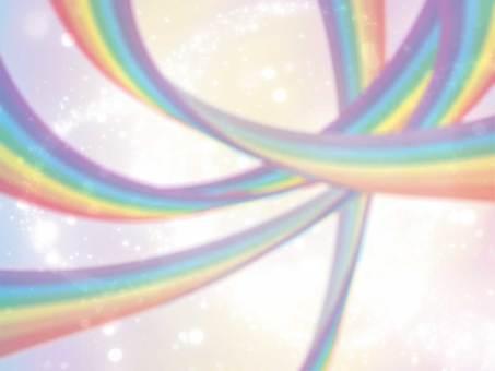 Stylish rainbow arch