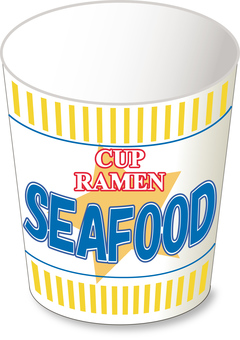 Cup noodle seafood _ empty container