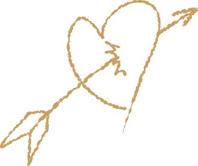 Heart with arrows (beige)