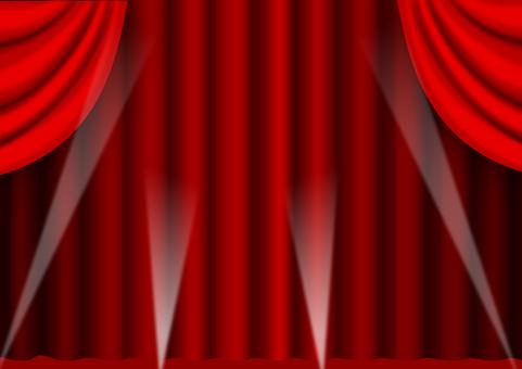 Production curtain of spotlight