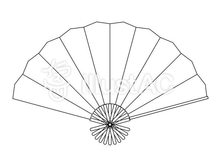 線画:扇(扇子)のイラスト