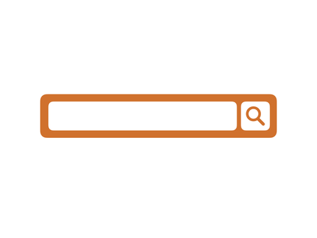 Search window Search bar Search Magnifying glass Orange