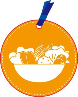 Tag eating and drinking (salad)