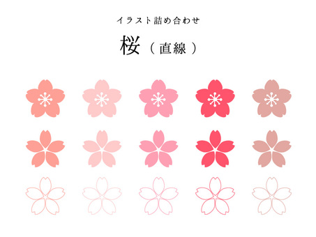 Cherry Set (Line · Editable)
