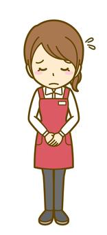 Woman (salesman): B_ bow 04FS