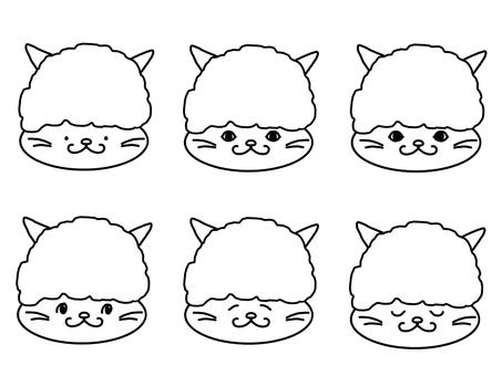 악마의 머리 장식 고양이 컬러링