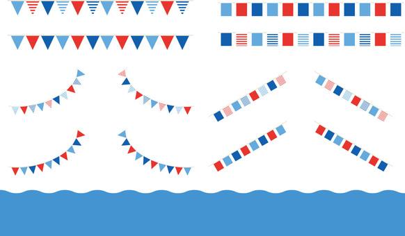 Summer-like flag material