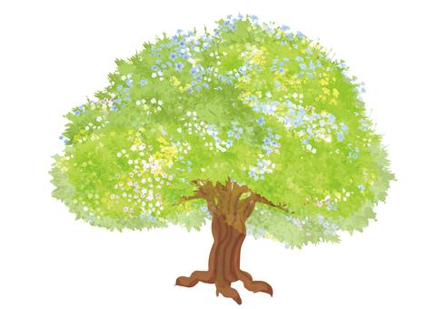 Flower garden tree