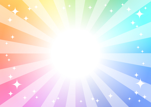 虹色の光の背景