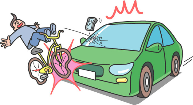Traffic accidents / bicycle driving hazard 2