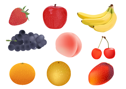 一套果子的例證