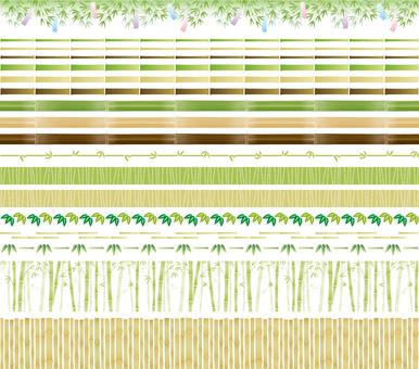 Bamboo and bamboo decorative ruled set