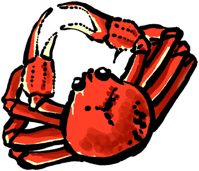 Crab brush writing style colored