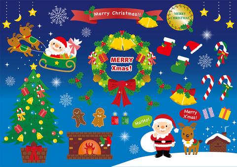 クリスマス セット イラスト