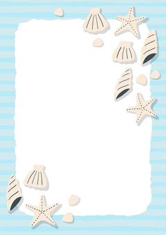 貝殼背景框架垂直