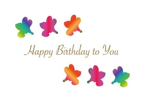 Cute flower pattern birthday card