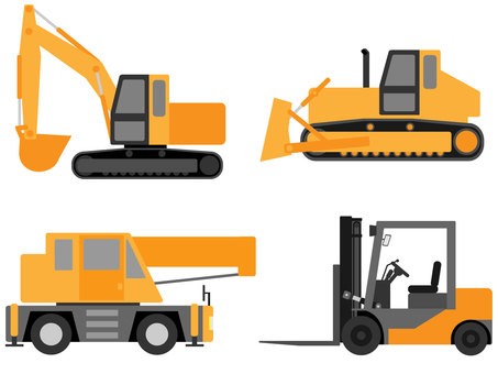 Working car (heavy machine / construction machine) material set