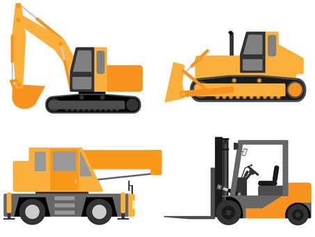 일하는 자동차 (중장비 및 건설 기계) 소재 세트 1
