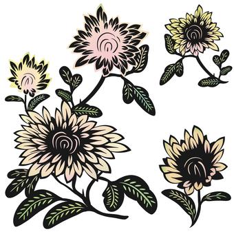 Cut-style flower set 1