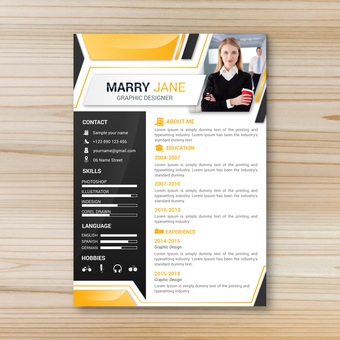 Business template resume 5