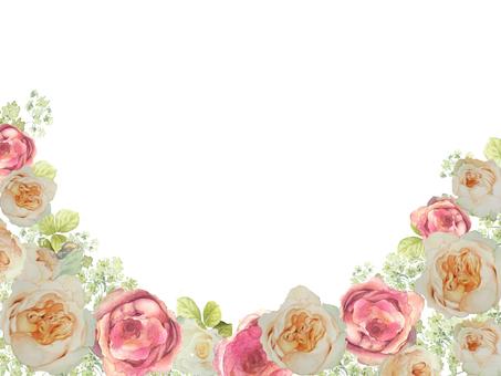 Flower frame 124 - Flower frame frame of rose