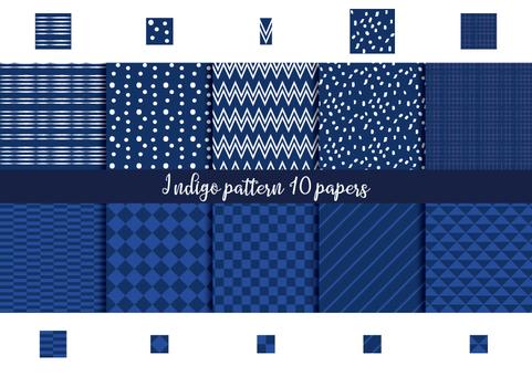 Indigo pattern set