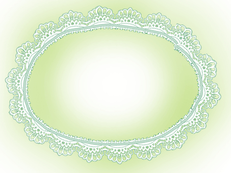 Paper lace frame - green