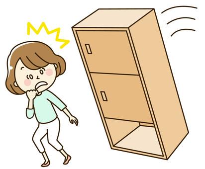 Falling furniture and women 2-14