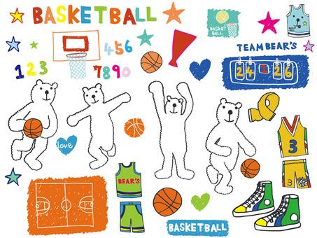 バスケットくまカラー