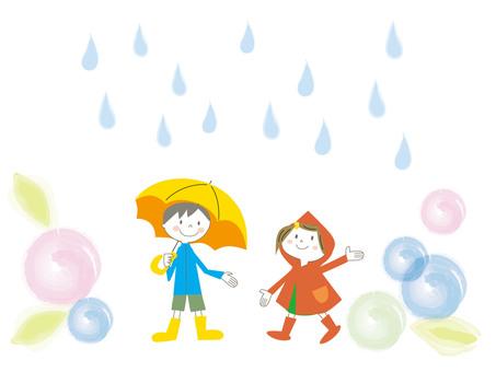 Rainy day Children