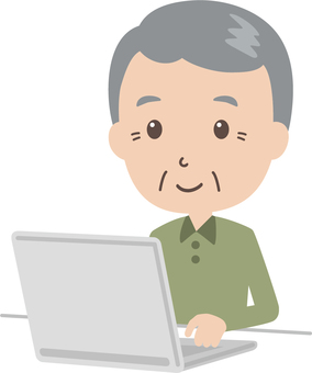 Elderly man | Grandfathers | Respect for the elderly | Personal computer
