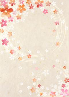 Sakura - Washi - Vertical background